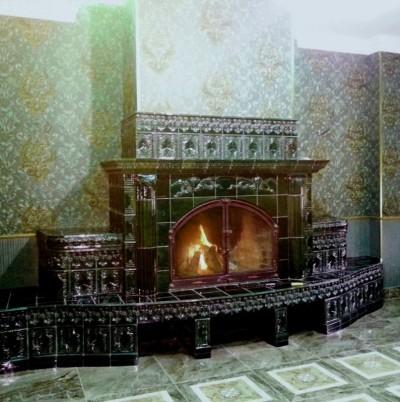 Изразцовый камин Мейсенский