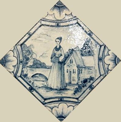 Петергофские изразцы, керамическая плитка для печей и каминов