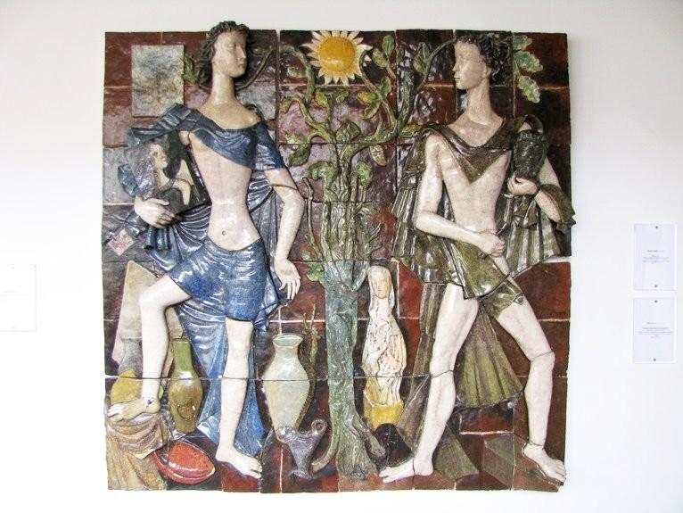 Рельефное панно. Национальный музей Азулежу в Лиссабоне