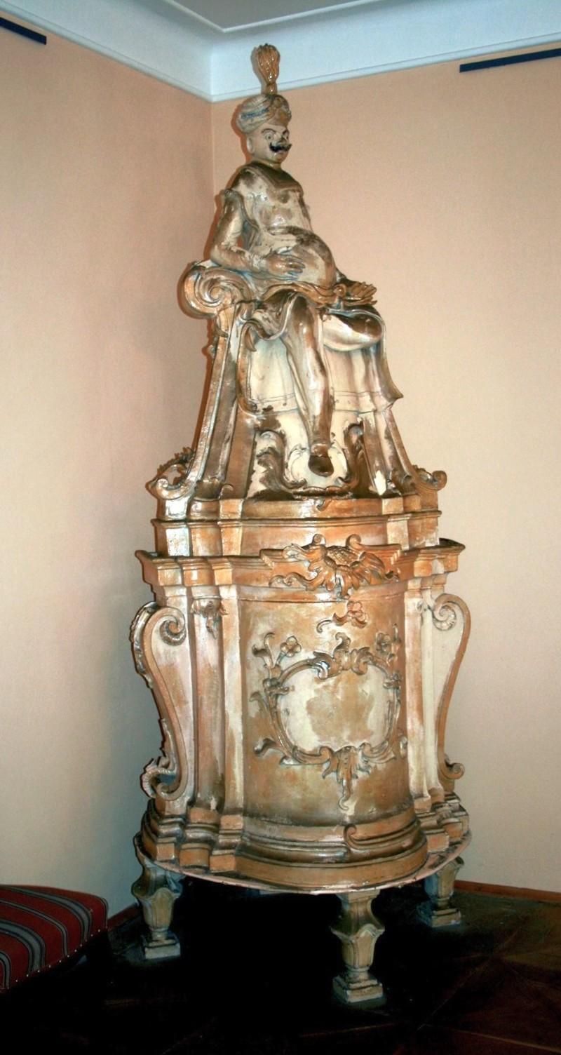Керамическая печь в замке Плосковице в стиле барокко