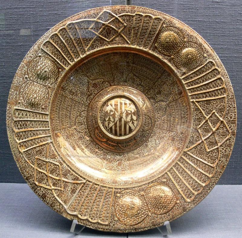 Металлизированное керамическое блюдо XVI века. Валенсия