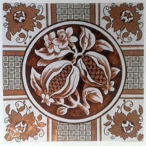 Викторианские плитки с печатным нанесением рисунка