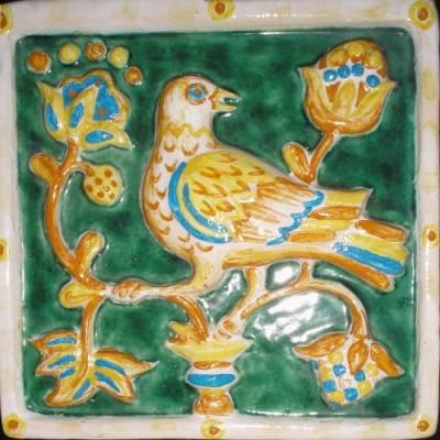 Изразцовая печь Птички