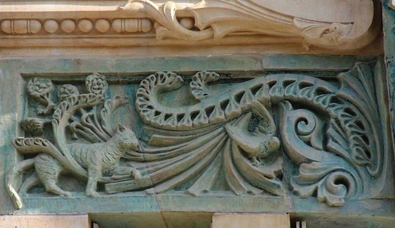 Керамический декор Александра Биго на доме 29 по улице Рапп