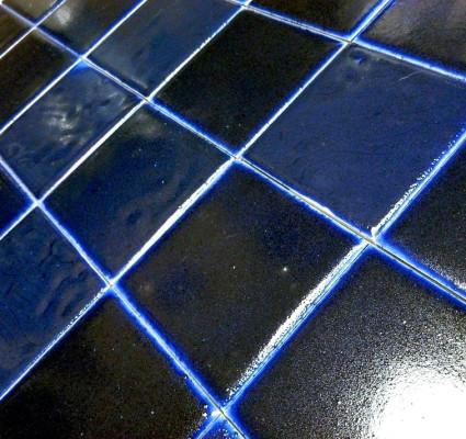 Синяя фасадная майолика