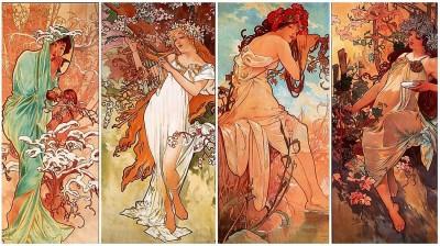 Серия плакатов «Времена года». Альфонс Муха. 1896 год