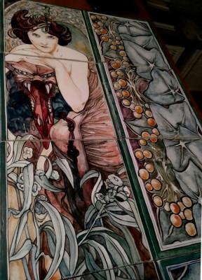 Керамическое панно ручной работы Изумруд