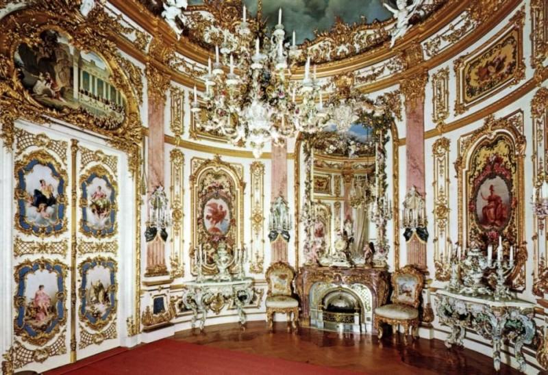 Фарфоровая комната в замке Херренхимзее