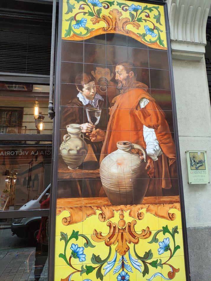Керамические панно в тавернах Мадрида
