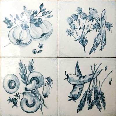 Изразцы Прованс, Керамическая изразцовая плитка ручной работы для облицовки фартука кухни