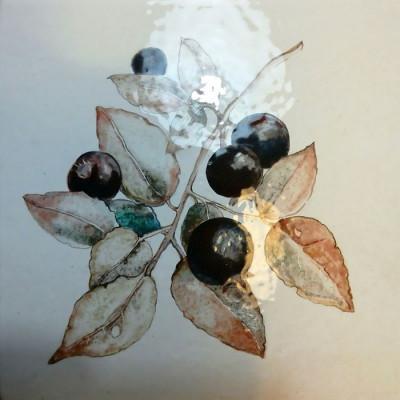 Изразцы Ботаника, керамическая плитка для облицовки фартука кухни, печей, каминов