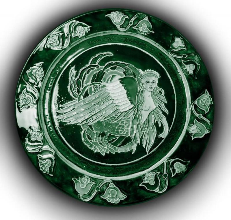 Обожженная тарелка из немецкой каменной массы