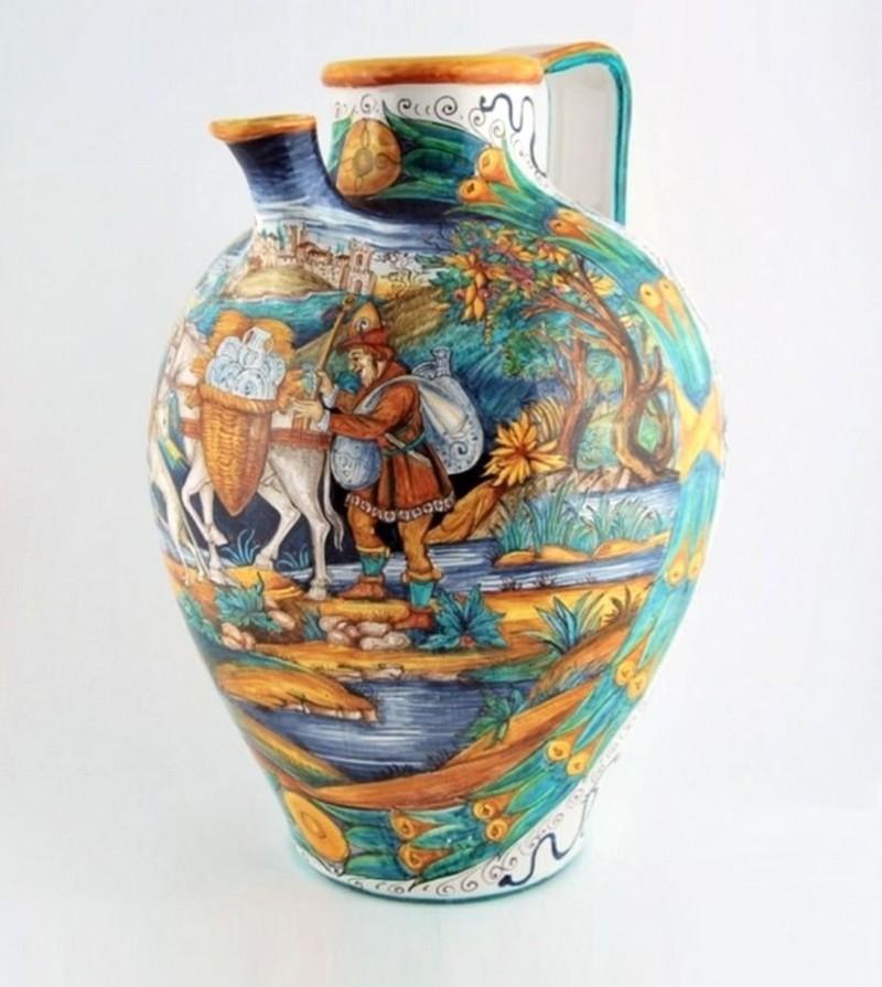 Майоликовая ваза в стиле итальянского искусства 16-го века istoriato