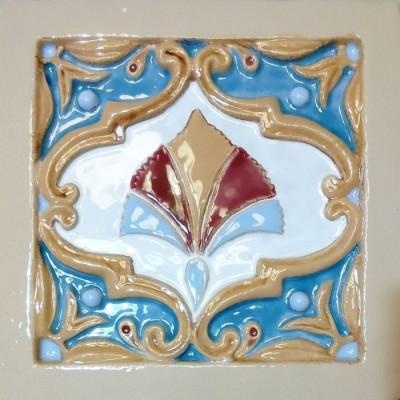 Игумновские изразцы, облицовочная керамическая плитка для камина и печей