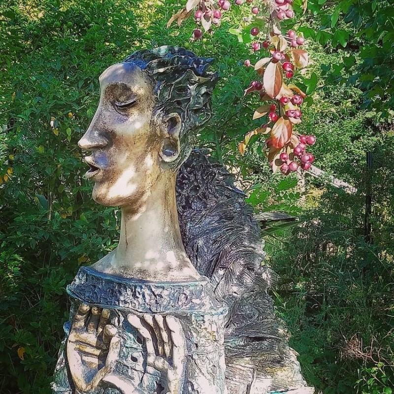Ангел Алены Залуцкой, обожженый в восстановительной среде