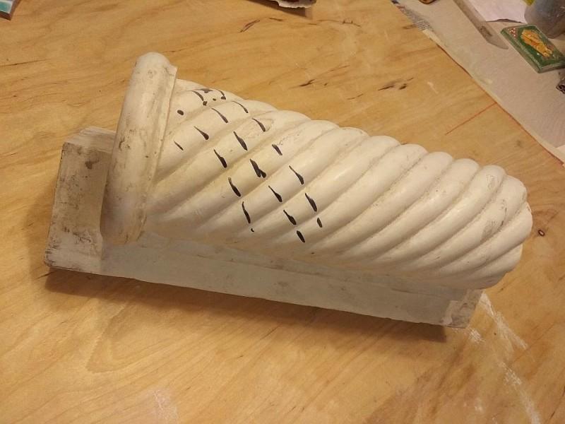 Гипсовая модель витой колонны