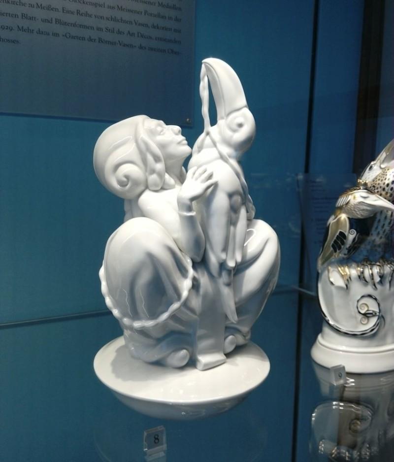 Современная фарфоровая скульптура из мейсенского музея