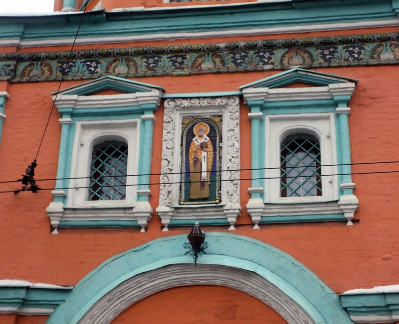 Павлинье око, храм Григория Неокесарийского, Москва, XVII век