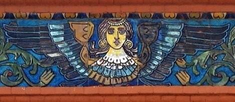 Изразцовый фриз Третьяковской галереи по эскизам Васнецова