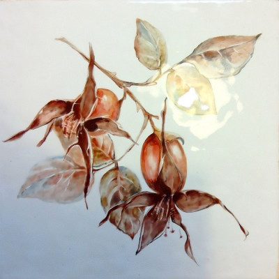 Изразцы Ботаника, керамическая плитка ручной работы для облицовки фартука кухни