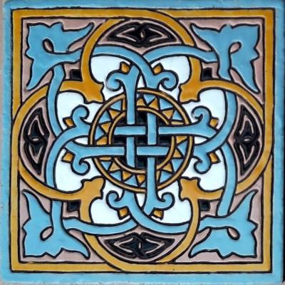 Изразцы, Серия Арабески, Керамическая плитка для облицовки печей и каминов