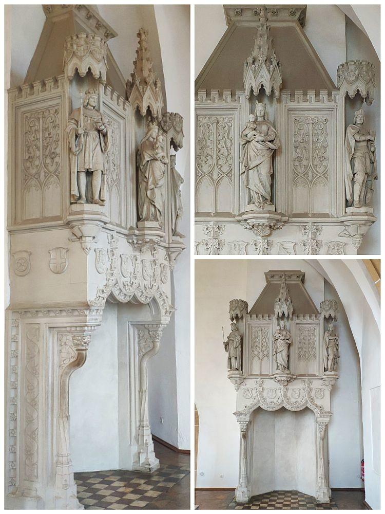 Каменный резной готический камин