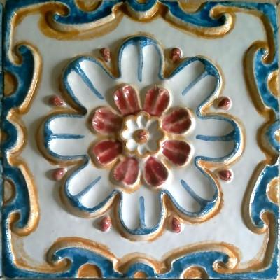 Керамические ярославские изразцы для облицовки печи или камина