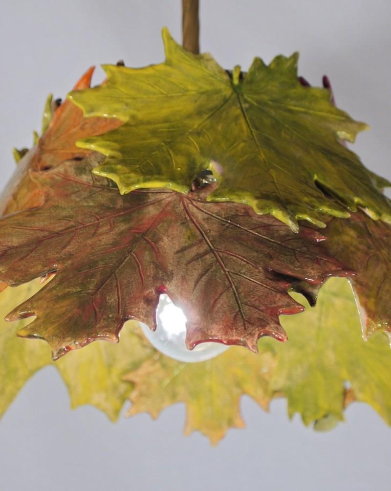 Керамический светильник с кленовыми листьями Елены Зайченко