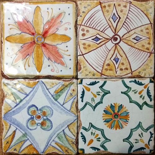 Облицовочная керамическая плитка для печей и каминов, плитка на фартук кухни, авторская майолика ручной работы, купить