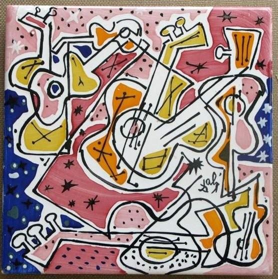 Керамические изразцы по картинам Сальвадора Дали, подписанные им собственноручно. 1950 год.