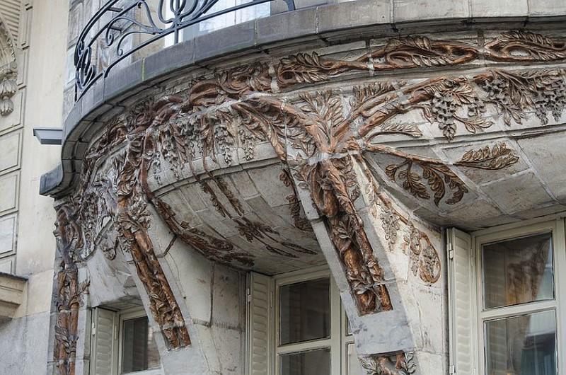 Керамический декор на здании по Авеню Ваграм, 34 Отель Керамики