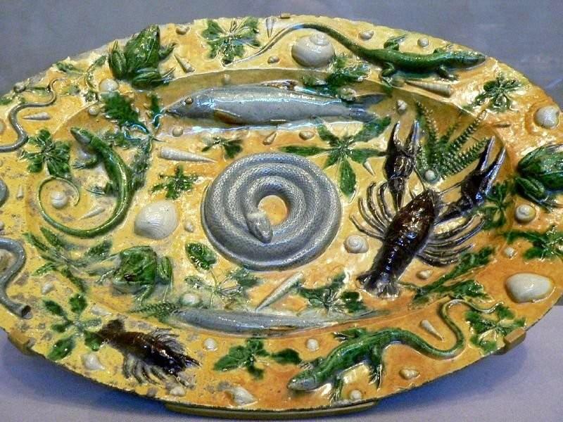 Блюдо Морская жизнь. Бернар Палисси. 1550 год