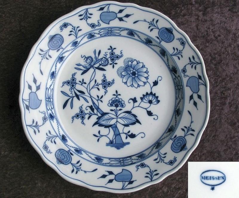 Форфоровая тарелка фабрики Карла Тайхерта