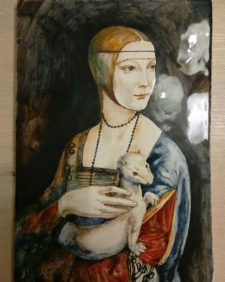 Керамическое панно Дама с Горностаем