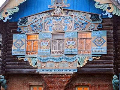 Резной декор фленовского домика в усадьбе Талашкино по рисунку С.В. Малютина