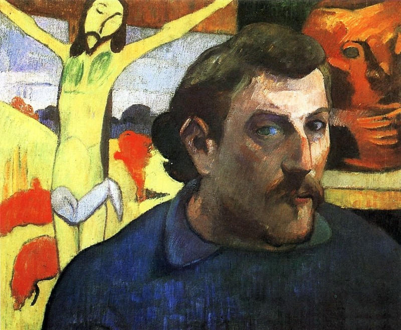 Автопортрет с желтым Христом. Поль Гоген