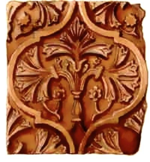 Изображение древа жизни на старинном изразце