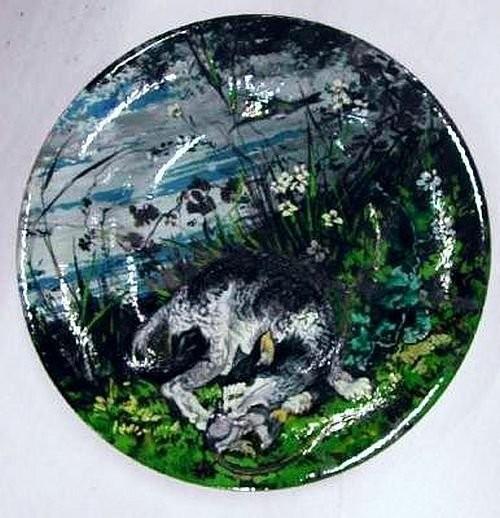 Тарелка периода ателье д'Отей