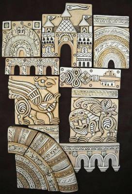 Владимиро-суздальское панно из мозаики