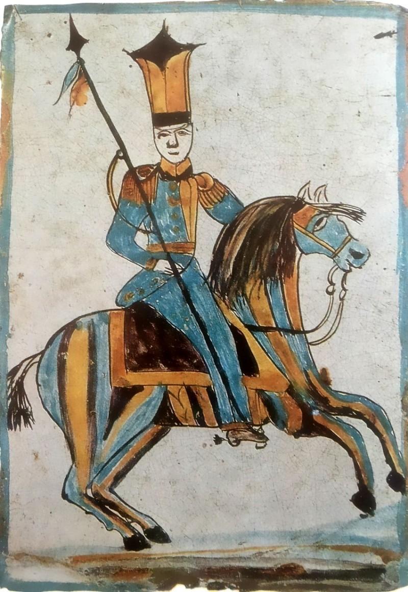 Калужский изразец середины XIX века