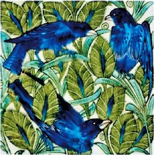 Изразец с птицами, Уильям де Морган