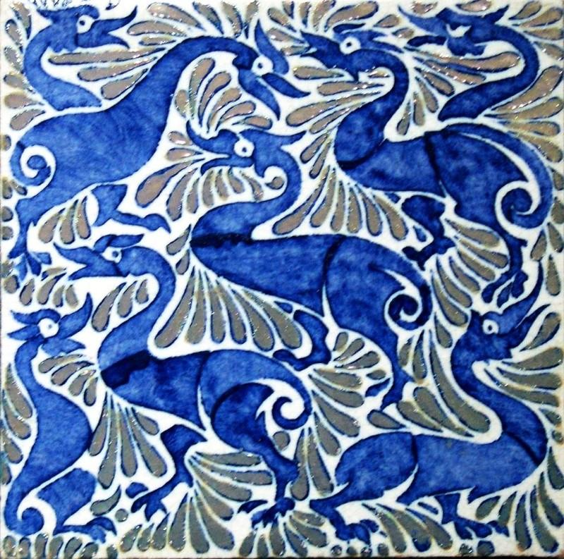 Абстрактные утки с эффектом люстрирования Уильяма де Моргана
