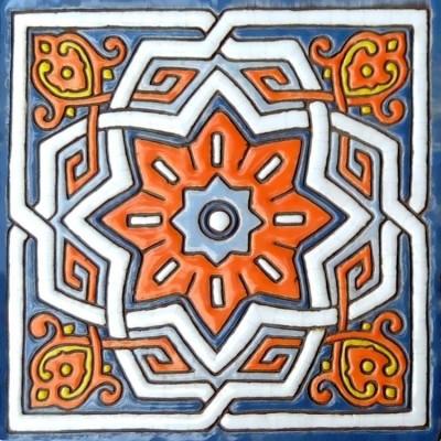 Изразцы ручной работы, Серия Арабески, Керамическая плитка изразец