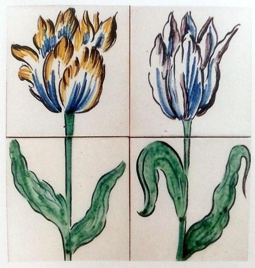 Изразцы с изображением тюльпанов. 1614 год