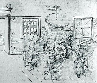 Иллюстрация станка и таблицы керамики