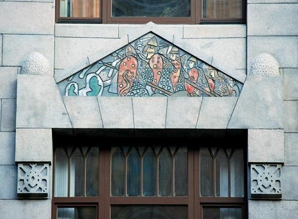 Майоликовый фриз на Доме страхового общества «Россия», ул. Б. Морская