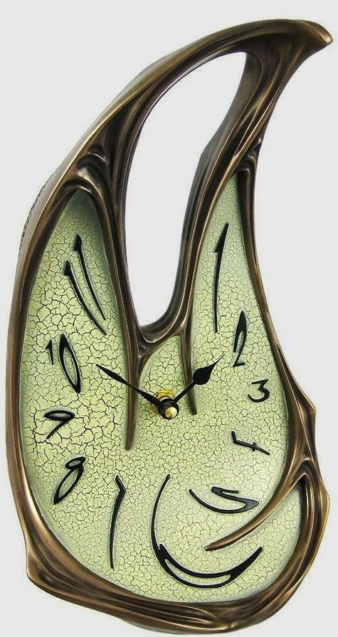 Керамические часы, по мотивам картины Дали