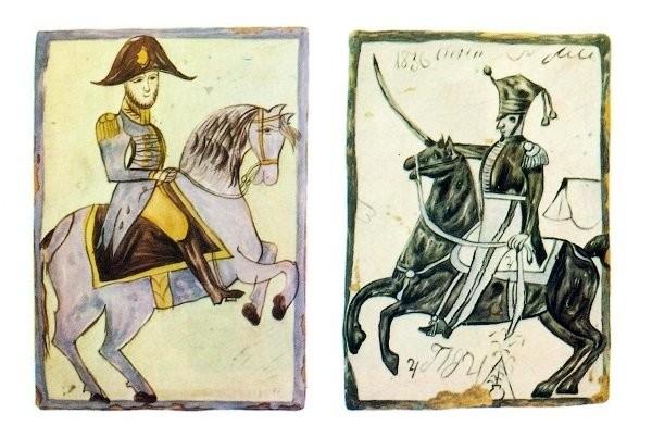 Калужские изразцы с военной тематикой начала XIX века