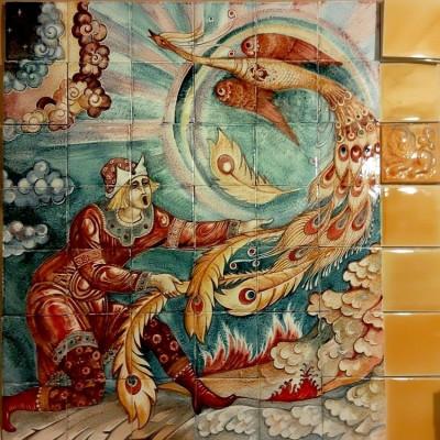 Керамичское панно ручной работы Жар-птица