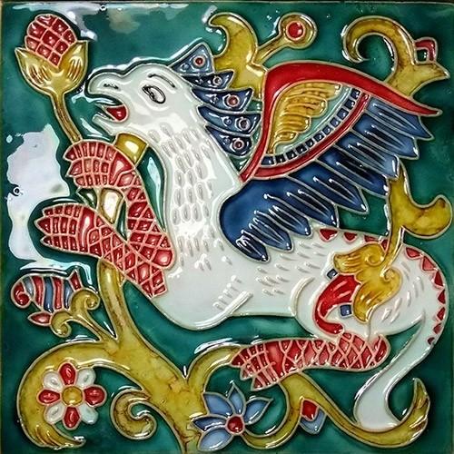 Русская майолика - купить недорого изразцы, керамическую изразцовую плитку для печей и каминов. Фото, цена.